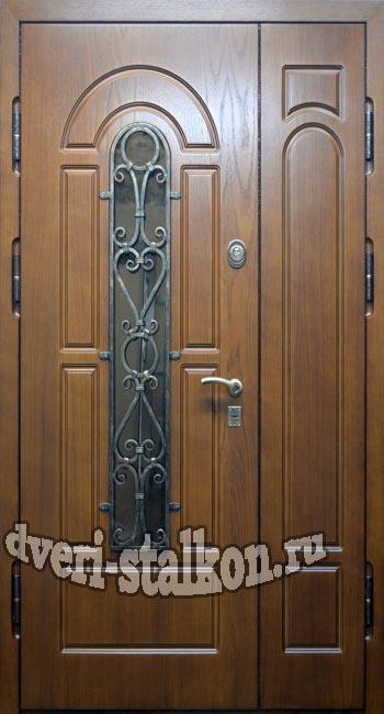 металлические двери двухстворчатые для коттеджа
