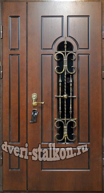 дизайн двухстворчитых дверей железных