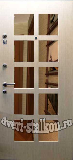 двери металлические с зеркалом недорого в юао